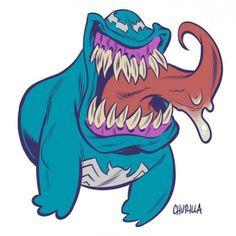 Venom/Slimer mashup by Brian Churilla