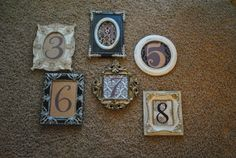 Table Numbers, 20% off | Recycled Bride