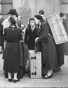 Czech refugees arriving in Prague after leaving their homes in the Sudetenland, a region with a large ethnic German population, which was the object of German expansionism  Czechoslovakia - Praha (Prague), 28 September 1938 Now Czech Republic