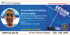 Printed Media & Finishing with Ijo Wira - present by VCD UC - 5 May 2014