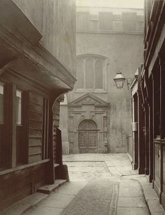 "Henry and Thomas James Dixon, no. 111, ""Great St. Helen's"" (1886), carbon print mounted on card, from 'Relics of Old London' (Society for Photographing Relics of Old London, 1875–1886, Yale Center for British Art, Paul Mellon Collection)"