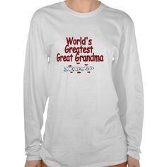 Worlds Greatest Great Grandma Tees