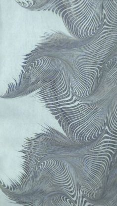 Modern 20th c. marbled paper, Turkish combed by lindsey