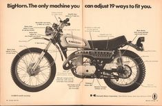 1970 Kawasaki 350 Motorcycle Advertisement Hot Rod Magazine May 1970