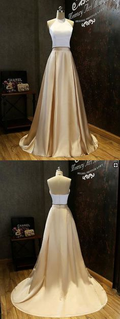 two-piece prom dress,prom dresses,long prom dress,evening dresses
