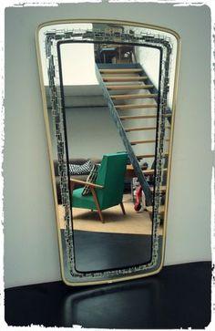 Grand Miroir Vintage Rétroviseur Années 50 MRS 07