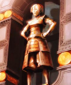 I totally flipped when I saw Toph's statue