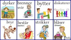 Norsk verbs Norway Language, Chinese English, Kids, Languages, Backgrounds, Pictures, Young Children, Idioms, Boys
