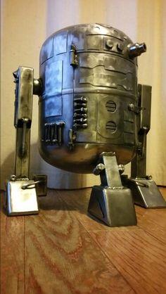 R2D2 chiminea gas bottle log burner star wars