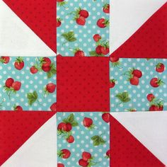 Farmer's Wife Quilt-a-Long Block # 16 - Calico Puzzle by Ellie@CraftSewCreate, via Flickr