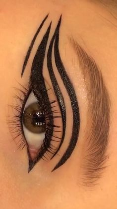 Edgy Makeup, Eye Makeup Art, Crazy Makeup, Creative Eye Makeup, Colorful Eye Makeup, Makeup Tutorial Eyeliner, No Eyeliner Makeup, Maquillage On Fleek, Eye Makeup Designs