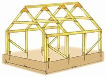 © Steen - Voici un modèle de serre  simple à réaliser, qui demande peu d'investissements et qui est durable .