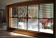 This excellent windows diy is an unquestionably inspirational and superior idea Hanging Stained Glass, Stained Glass Crafts, Stained Glass Panels, Stained Glass Patterns, Leaded Glass Windows, Glass Door, Rustic Window Frame, House Window Design, Glass Blocks Wall