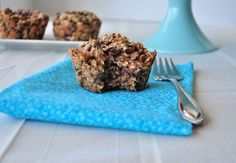 Almond Butter Chocolate Chip Baked Oatmeal.  Another healthy breakfast your kids will love!