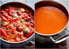 Creamy Roasted Tomato Basil Soup | http://cafedelites.stfi.re