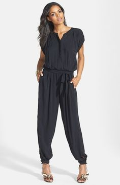 Leith Belted Cuff Jumpsuit from @Nordstrom