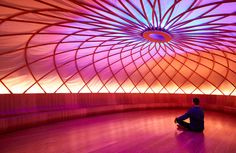 Inscape, a meditation studio designed by Archi-Tectonics, features an ellipsoid Dome room with color therapy lighting. (Christian Harder, Courtesy Inscape)