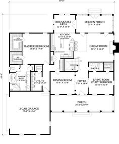 Colonial Style House Plan - 5 Beds 4 Baths 3277 Sq/Ft Plan #137-288 Floor Plan - Main Floor Plan - Houseplans.com