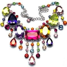 colorful necklaces | ... Categories > Wedding Jewelry > Color Cristal Style Fashion Jewelry