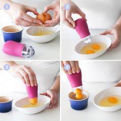 How it works: Fusionbrands YolkR Egg Separator Kitchen Essentials, Toothbrush Holder, It Works
