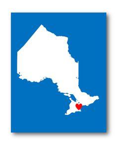 Toronto Ontario Map Art Print