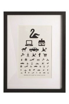 Modern Eye Chart poster from House Doctor