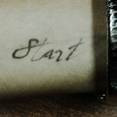 Start Type, sentence, a sentence a day, thypography, handwrite, write, handlettering, lettering