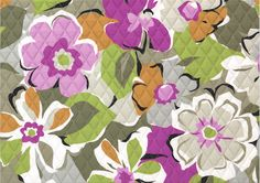 Inspired by the retro and romance discovered amid London's fashionably charming market stalls, this supersized floral is a nod to mod. Neutral clay and mushroom tones get a delightful lift from grape and magenta hues with touches of pistachio and white. A sweetheart chain design inside provides the perfect contrast, sure to steal her heart away.