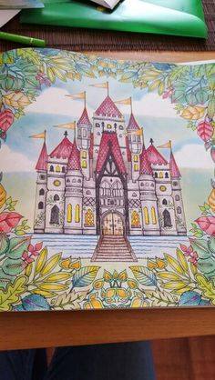 Johanna basford castle from the enchanted forest