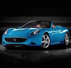 Blue Ferrari California - sweet #CarFlash