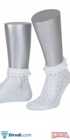 Oktoberfest Strümpfe Socken Rüschen Schleife schwarz weiß pink rot grün Trachten