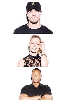 My three favorite people. #arrow #originalteamarrow :)