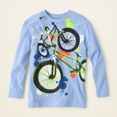 boy - graphic tees - biker graphic tee | Children's Clothing | Kids Clothes | The Children's Place