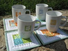 MUG RUGS | MINI QUILT TUTORIAL for mug rugs and coasters | Nero's post and patch ... This is for when even lap quilts are too big to make, like when I'm older and my joints won't work anymore.