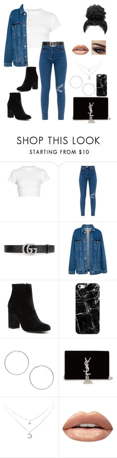 """""""Outfit #39"""" by noelia612 ❤ liked on Polyvore featuring Motel, Gucci, Pull&Bear, Witchery, Casetify, Miss Selfridge, Yves Saint Laurent and Huda Beauty"""