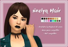 """stephanine-sims:  """" Evelyn Hair   Hello everyone!! I had some free time this weekend so I made this hair~ YES, three pieces of CC from me in one weekend haha! My CC creating folders are empty again :-)  Anyway! I love that bob that comes with the Cool..."""