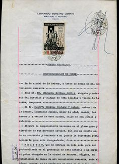 Jubilication Notarial stamp use on the document (1940)