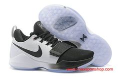 b215f0ce2082 Cheapest price for Men s Nike PG 1 id White and Black Basketball Shoes  Outlet Store