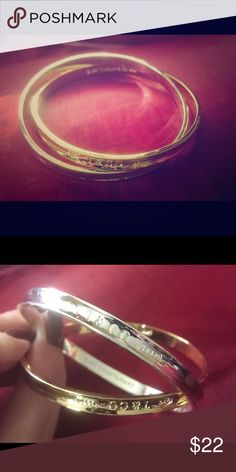 Two toned T&Co bracelet, believe it's a replica. Brand new. Two toned T&Co bracelet, believe it's a replica. One bangle is silver, one is gold. Jewelry Bracelets
