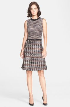 St. John Collection Opulent Tweed Knit Dress with Inlay Knit Bodice available at #Nordstrom