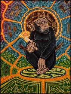 · Teonanácatl · acrílico sobre madera - 90,5 x 130 - 2014 Isbelio Godoy