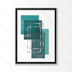 "Teal silver geometric Printable poster, Scandinavian art, modern wall art. Digital Instant Download    Teal silver geometric Digital Print file for printing a wall decor. No waiting and shipping fees. Just download, print and enjoy it!    This listing is for an INSTANT DOWNLOAD     you will get 5 files:    1.  8"" x 10"" jpg file  2. 11"" x 14"" jpg file  3. 16"" x 20"" jpg file  4. 18"" x 24"" jpg file    5.  jpeg - can be printed and sized to any dimensions up to 22x28   inches    *** BUY 2 GET 1…"