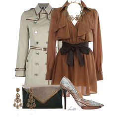 #1724 by christa72 on Polyvore featuring мода, Burberry, Miss Selfridge and Oscar de la Renta