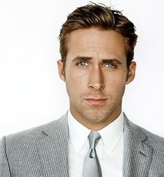 This is like my hubby's hairstyle...but I can never cut it to look as good as this. (Maybe bcus it's Ryan gosling--that's gotta b it)
