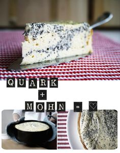 Quark und Mohn - New Ideas Cheesecakes, Sweet Cakes, Cakes And More, No Bake Desserts, Diy Food, Let Them Eat Cake, No Bake Cake, Food Inspiration, Sweet Recipes