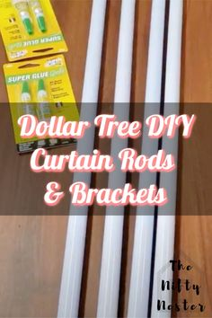 Homemade Curtain Rods, Cheap Curtain Rods, Homemade Curtains, Decorative Curtain Rods, Rustic Curtain Rods, Farmhouse Curtain Rods, Inexpensive Curtains, Unique Curtains, Cheap Curtains