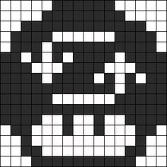 Repeat 1up Perler Bead Pattern / Bead Sprite
