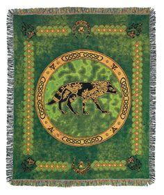Celtic Wolf Design & Blanket by Xephyr Inkpen, via Behance