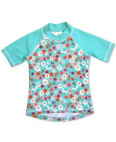 Banz Girls UV Short Sleeved Rash Top | Flowers
