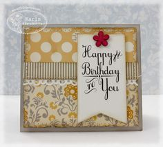 October Afternoon paper! Card by Peppermint Patty's Papercraft: